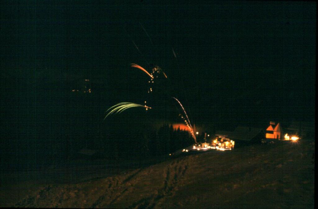 Feuerwerk an Silvester am Kristberg