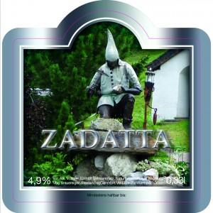 """Frastanzerbier """"Zadatta"""" ist eine Speziallabfüllung von der Brauerei Frastanzer für den Panoramagasthof Kristberg."""