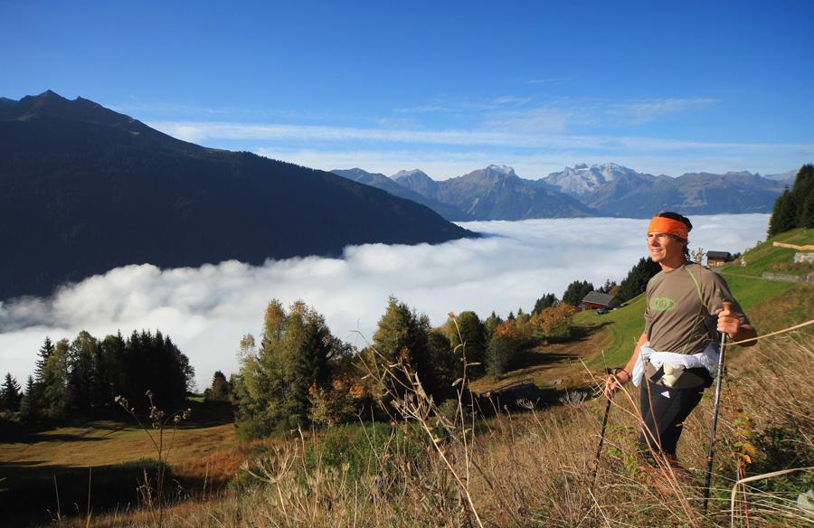 Laufen und Nordic-Walking im Montafon mit Panoramablick