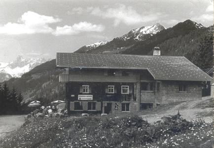 Der Panoramagasthof Kristberg im Jahr 1950