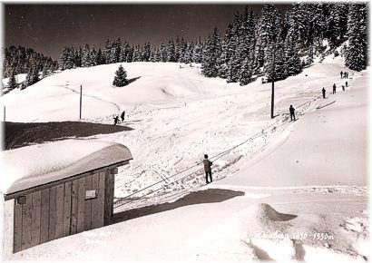 Kristberglift im Jahre 1964