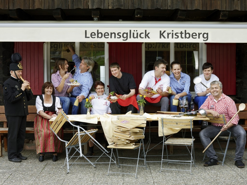 Verwöhnteam vom Panoramagasthof Kristberg in Silbertal im Montafon
