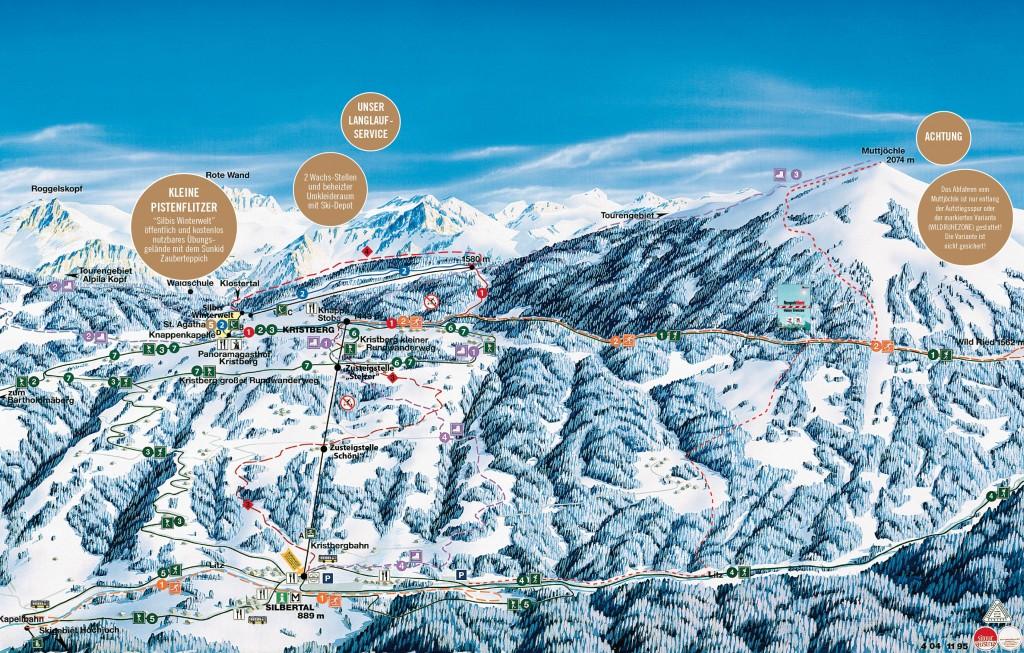 Schneezeitpanorama vom Kristberg in Silbertal im Montafon